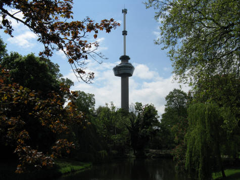 Euromast Tower in Rotterdam Holland